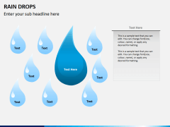 Rain drops PPT slide 2
