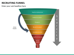Recruiting funnel PPT slide 13
