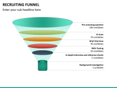 Recruiting funnel PPT slide 19