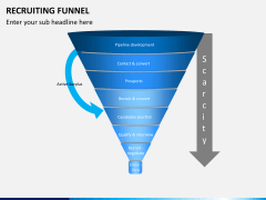 Recruiting funnel PPT slide 1