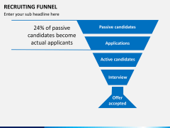 Recruiting funnel PPT slide 6