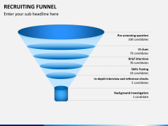 Recruiting funnel PPT slide 7