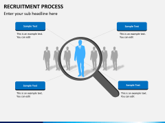 Recruitment process PPT slide 1