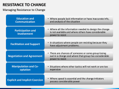 Resistance to Change PPT slide 18