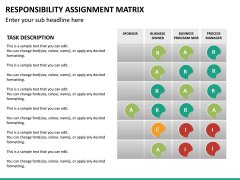 Responsibility assignment matrix PPT slide 18