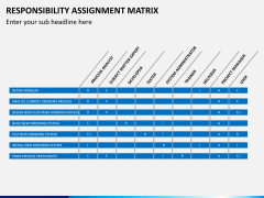 Responsibility assignment matrix PPT slide 5