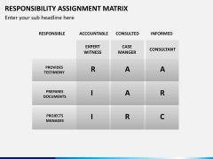 Responsibility assignment matrix PPT slide 7