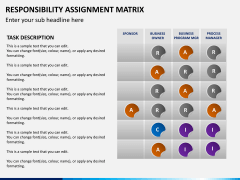 Responsibility assignment matrix PPT slide 9