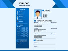 Professional Resume PPT slide 1