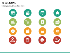 Retail icons PPT slide 7