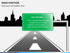 Road junction PPT slide 6