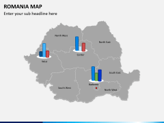 Romania map PPT slide 13