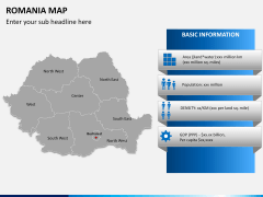 Romania map PPT slide 14