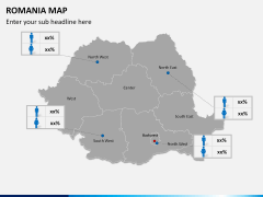 Romania map PPT slide 15