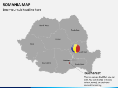 Romania map PPT slide 16
