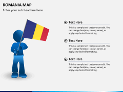 Romania map PPT slide 19