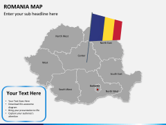 Romania map PPT slide 2
