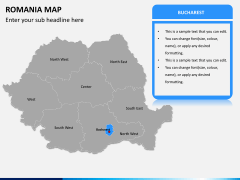 Romania map PPT slide 7