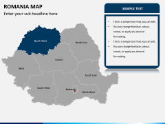 Romania map PPT slide 9