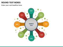 Round text boxes PPT slide 23