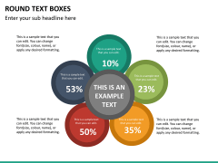 Round text boxes PPT slide 17