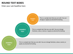 Round text boxes PPT slide 18