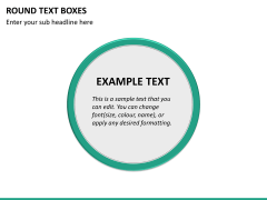 Round text boxes PPT slide 20