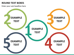 Round text boxes PPT slide 21