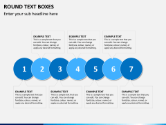 Round text boxes PPT slide 1