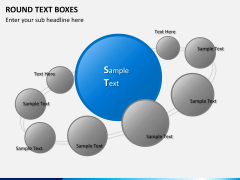 Round text boxes PPT slide 12