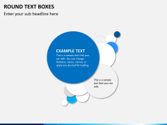 Round text boxes PPT slide 2