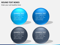 Round text boxes PPT slide 3