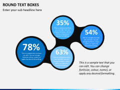 Round text boxes PPT slide 4