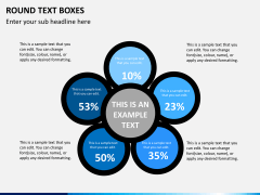 Round text boxes PPT slide 5