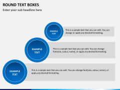 Round text boxes PPT slide 6