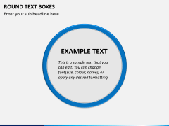 Round text boxes PPT slide 8