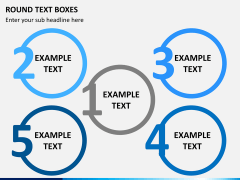 Round text boxes PPT slide 9