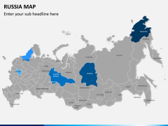 Russia map PPT slide 1
