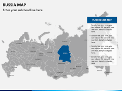 Russia map PPT slide 10