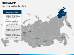 Russia map PPT slide 11
