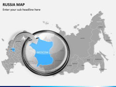 Russia map PPT slide 13