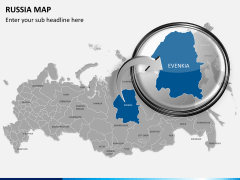 Russia map PPT slide 15