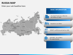 Russia map PPT slide 18
