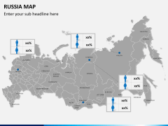 Russia map PPT slide 19