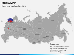 Russia map PPT slide 20
