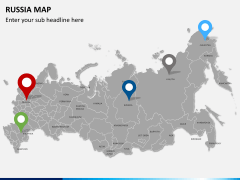 Russia map PPT slide 4