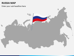 Russia map PPT slide 5