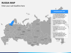 Russia map PPT slide 7