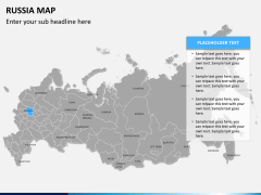 Russia map PPT slide 8