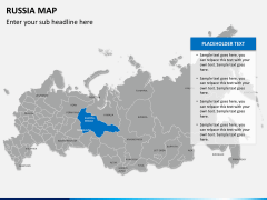 Russia map PPT slide 9